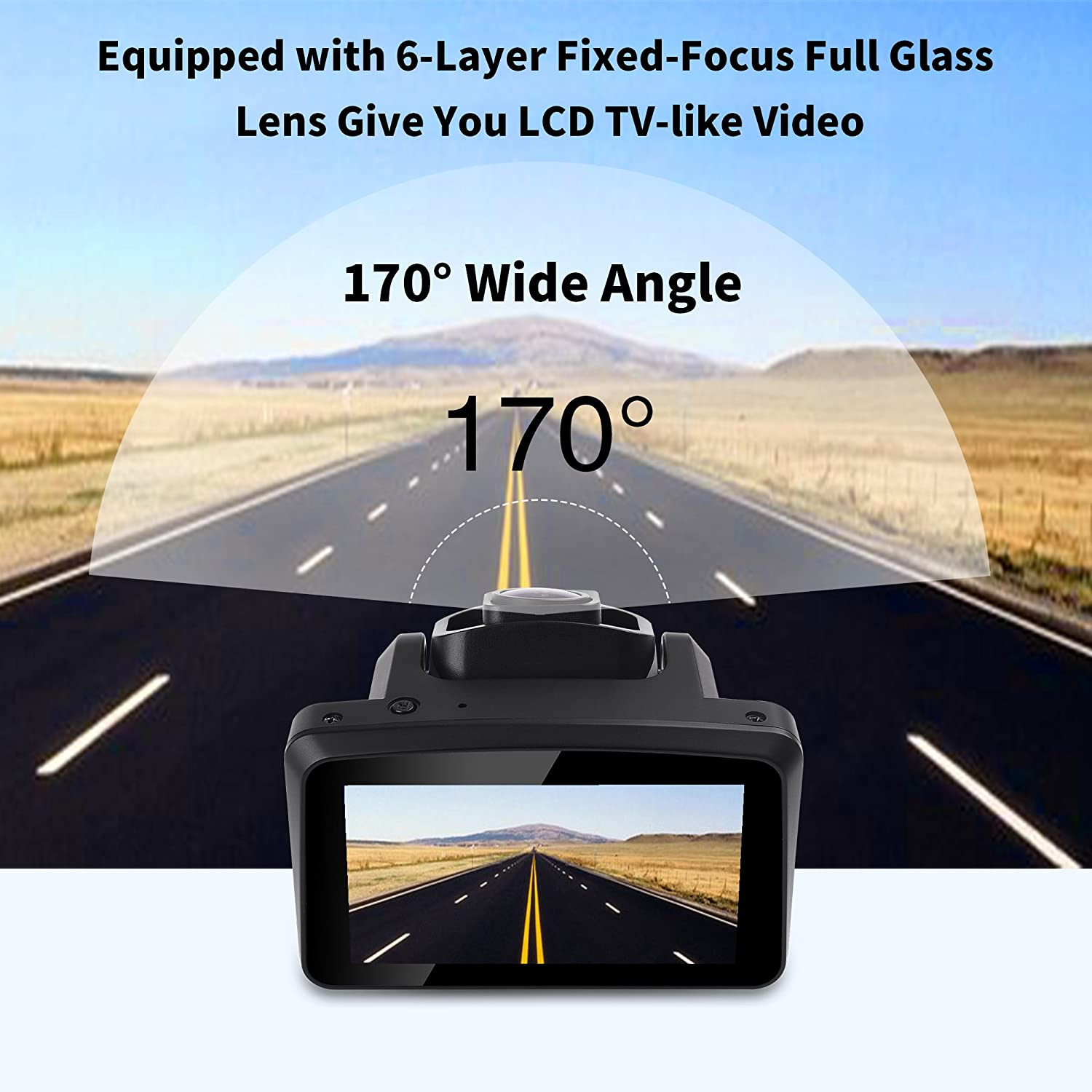 """Driving Video Camera Recorder,Dashboard Vehicle Car DVR OnLyee Dash Cam External Memory Loop Recording OnLyee Technology Co ltd CAM-01 170/° Wide Angle Lens G-Sensor,Parking Mode Full HD 1080P with 3/"""" LCD Display Auto ON//Off"""