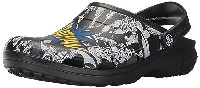 Crocs Unisex's Classic Batman Clog Mule, Black, ...