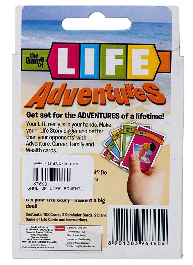 Buy Funskool Game Of Life Adventure Card Game Online At Low Prices