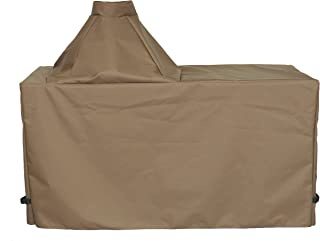 "product image for Cowley Canyon Brand Large Ceramic Egg Type Kamado Table Cover, 58"" L-28"" W-31"" H. Fits Large Big Green Egg, Kamado Joe Classic and Others."