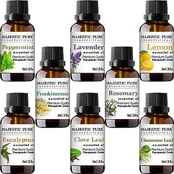Majestic Pure aceites esenciales de aromaterapia juego de parte ...