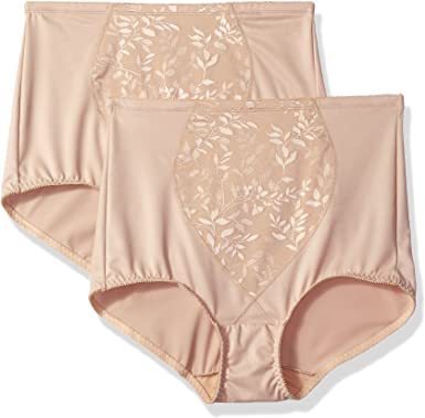 Bali Women's Tummy Panel Brief Firm Control 2-Pack