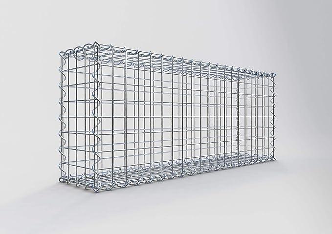 Gabiona | Gavión rectangular | jaula de malla para rellenar con piedra | resistente a la intemperie | con malla de alambre especial | fabricado en Alemania