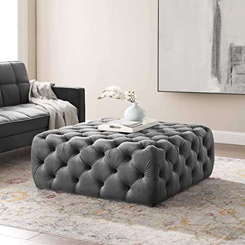 Modway Amour Tufted Performance Velvet Large Upholstered Ottoman