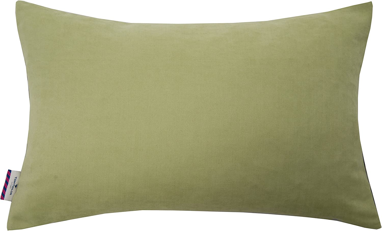 Vert Tom Tailor T- Green Feather Housse de Coussin 35x55 cm Polyester