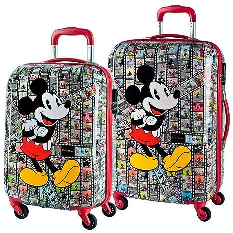 Disney Set de Maletas Mickey Film, 55/65 cm, 88 litros, Rojo ...