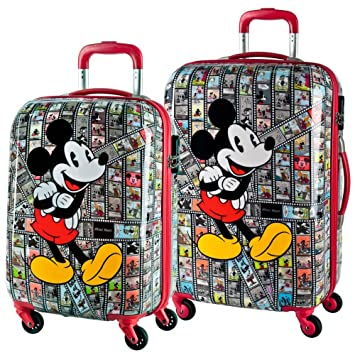 Disney Set de Maletas Mickey Film, 55/65 cm, 88 Litros, Rojo: Amazon.es: Equipaje