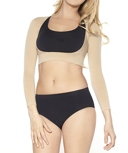 c2d02e9d5591f Ahh By Rhonda Shear Women s Plus Size Seamless Arm Shaper  Amazon.in   Clothing   Accessories