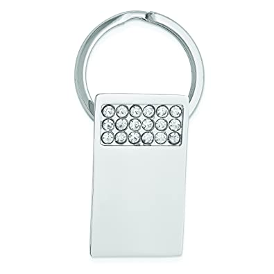Diamond2Deal - Llavero Rectangular con Cristales de ...