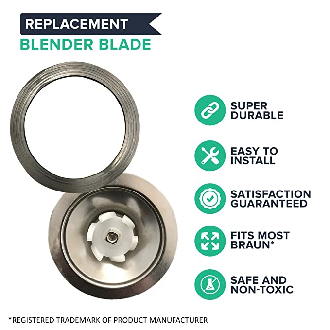 Braun Blender hoja de repuesto para batidoras, compatible con ...