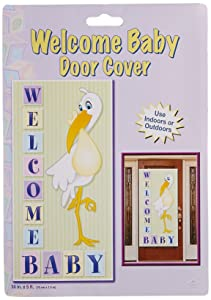 Welcome Baby Door Cover Party Accessory (1 count) (1/Pkg)