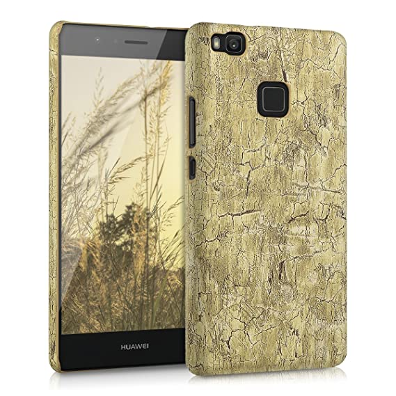 kwmobile Case for Huawei P9 Lite - Hard Plastic Anti-Scratch Shockproof Protective Smartphone Cover - Light Brown