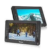 """NAVISKAUTO 2 10,1"""" Tragbarer DVD-Player 5 Stunden Auto Kopfstütze Monitor 1024*600 HD Bildschirm Kopfstützenhalterung, SD/USB, AV IN/OUT 12V 10002B"""