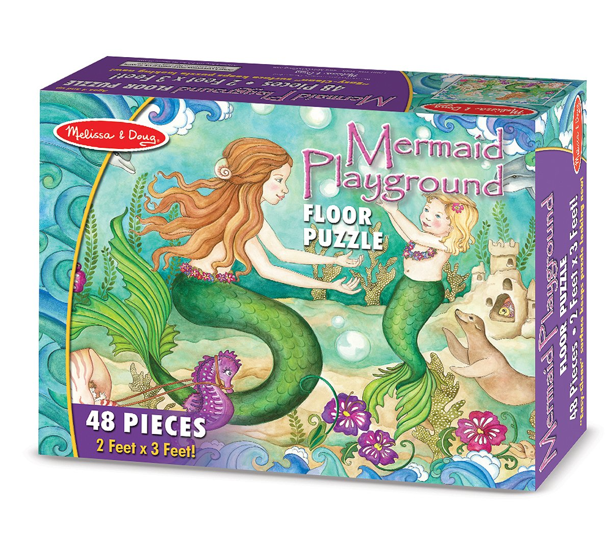 Amazoncom Melissa Doug Mermaid Playground Jumbo Jigsaw Floor - Melissa and doug floor puzzle