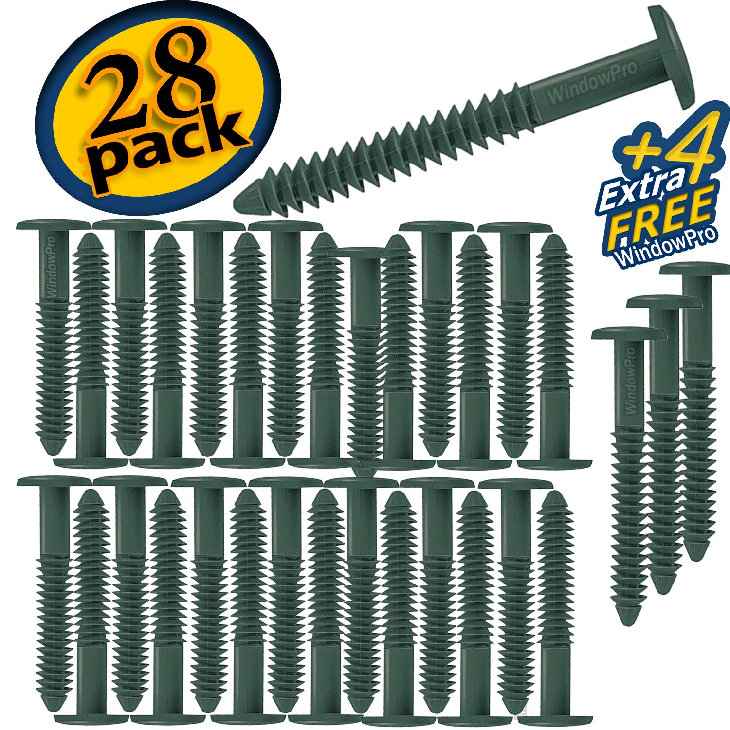 Forest Green Window Shutters Panel Peg Loks 3 inch 12 Pack Buy One Bag of 12 Loks and Get 4 Extra Shutter Peg Loks Free