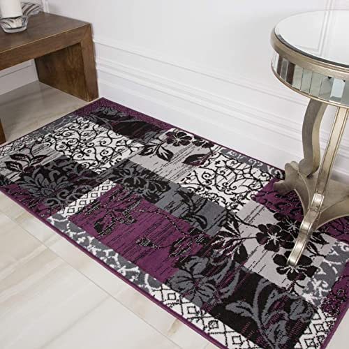 Milan Purple Jute Area Rug