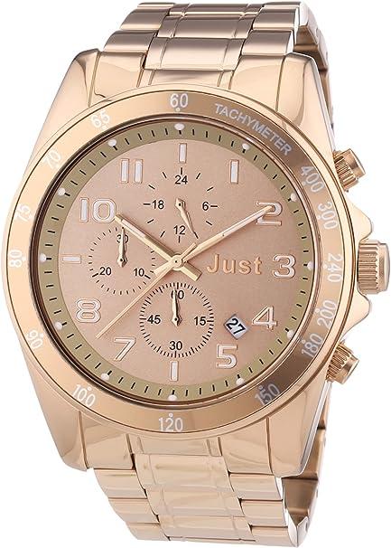 Just Watches 48-S1230-RGD - Reloj analógico de Cuarzo Unisex, Correa de Acero In