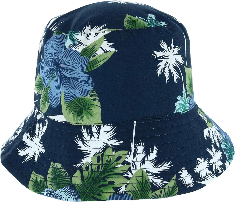 Nouveau KENNY K Homme Réversible Tropical Bucket Hat