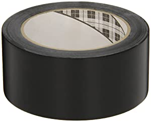 3M General Purpose Vinyl Tape 764, Black, 2 in x 36 yd, 5 mil