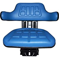Blue TRAC SEATS Brand Waffle STYLEUNIVERSAL Tractor Suspension SEAT with TILT FITS Ford/New Holland 3000 3010 3300 3330 3400 3600 3610 (Same Day Shipping - Delivers in 1-4 Business Days)
