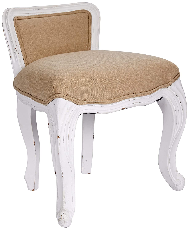 44x33x53 cm Color Blanco Madera Better /& Best Sillita pochola tapizada