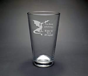 Time To Be A Dragon Pint Glass