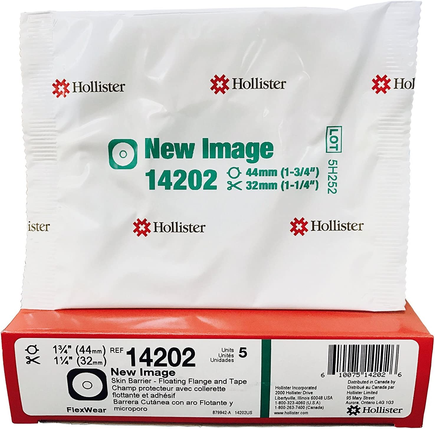 "B0002Q0RD2 New Image Cut-to-Fit FlexWear Skin Barrier with Tape - Floating Flange - Flang: 1-3/4"", Cut up to: 1-1/4"", Green - Box of 5 81S0zSEczPL"
