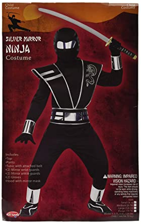 Silver Mirror Ninja - Kids Costume 3 - 5 years: Amazon.es ...
