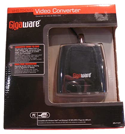GIGAWARE VHS TO DVD VIDEO CONVERTER DRIVERS FOR WINDOWS VISTA