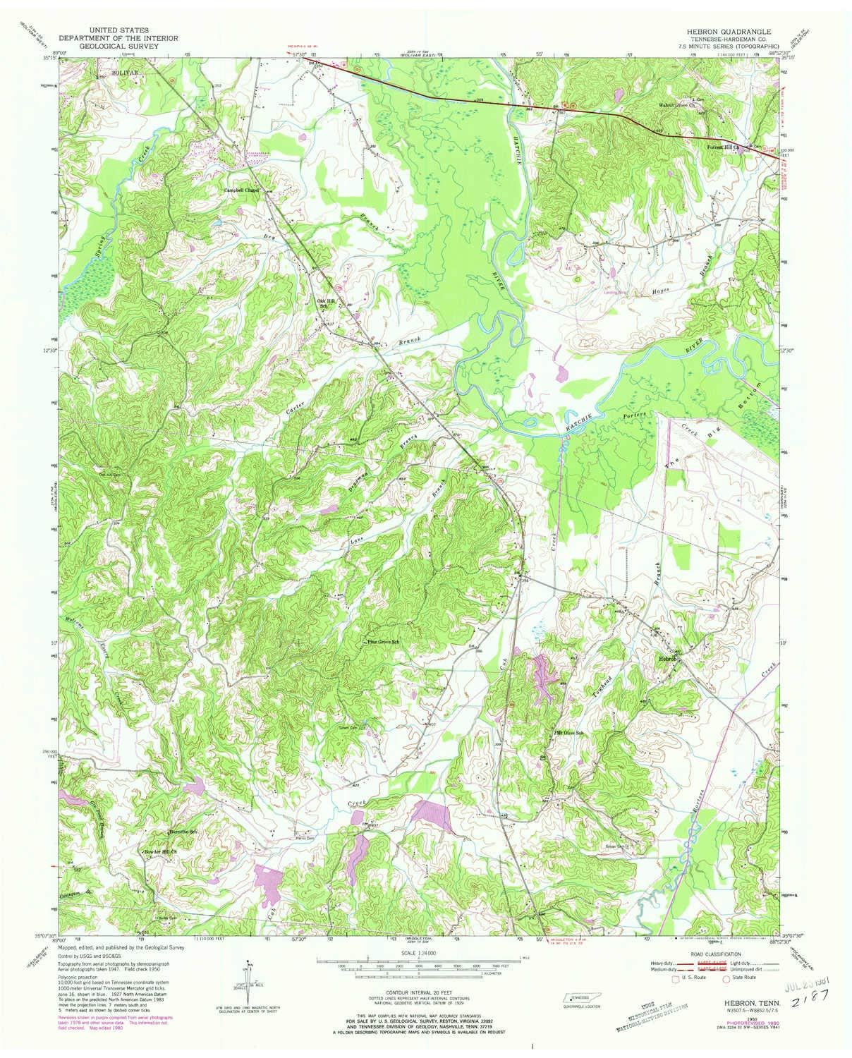 Amazon YellowMaps Hebron TN topo map 1 Scale 7 5 X 7 5