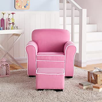 Amazon.com: Member\'s Mark Kids\' Chair and Ottoman, Pink: Toys & Games