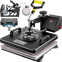VEVOR Heat Press 15X15 Inch Heat Press Machine 5 in 1 Digital Multifunctional Sublimation T-Shirt Heat Press Machine for…