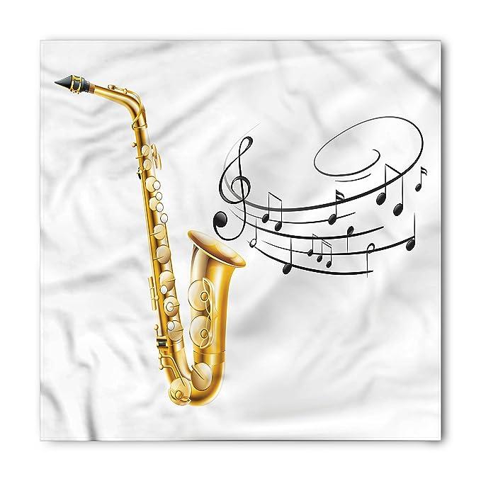 amazon com ambesonne music bandana illustration of fancy old