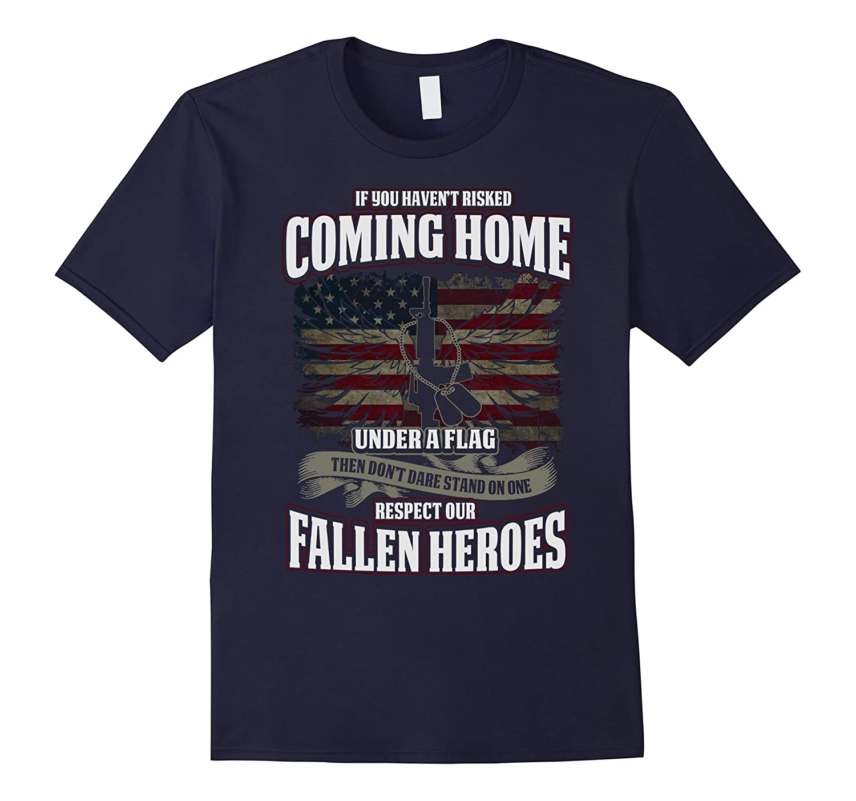 Respect Our Fallen Heroes Veterans T-shirt American Flag-CD