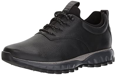 Cole Haan Men's Grand Explore All-Terrain Ox WP Hiking Boot, Black Leather/