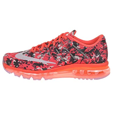Nike Air MAX 2016 Print, Zapatillas de Running para Hombre, Rojo (Lt Crimson/Wolf Grey-Anthrct), 40 1/2 EU: Amazon.es: Zapatos y complementos