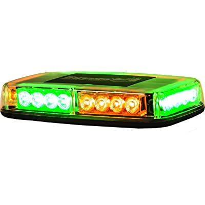 Buyers Products 8891049 Amber/Green LED Rectangular Mini Light Bar: Automotive