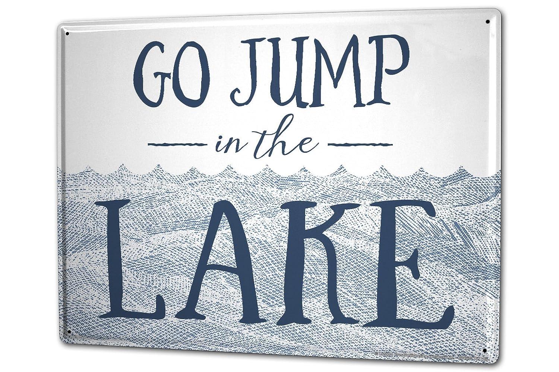 Cartelli Bagno Da Stampare : Cartello targa in metallo xxl motivo nostalgico tuffo nel lago