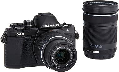Olympus OM-D E-M10Mark II sin Espejo Micro 4/3°Cámara Digital con 14–42mm y 40–150mm Lentes (Negro)