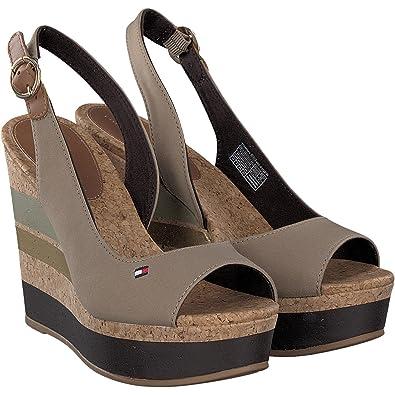 a75d8981aa0 Tommy Hilfiger FW0FW00858 Wedge Women BEIGE 36  Amazon.co.uk  Shoes ...