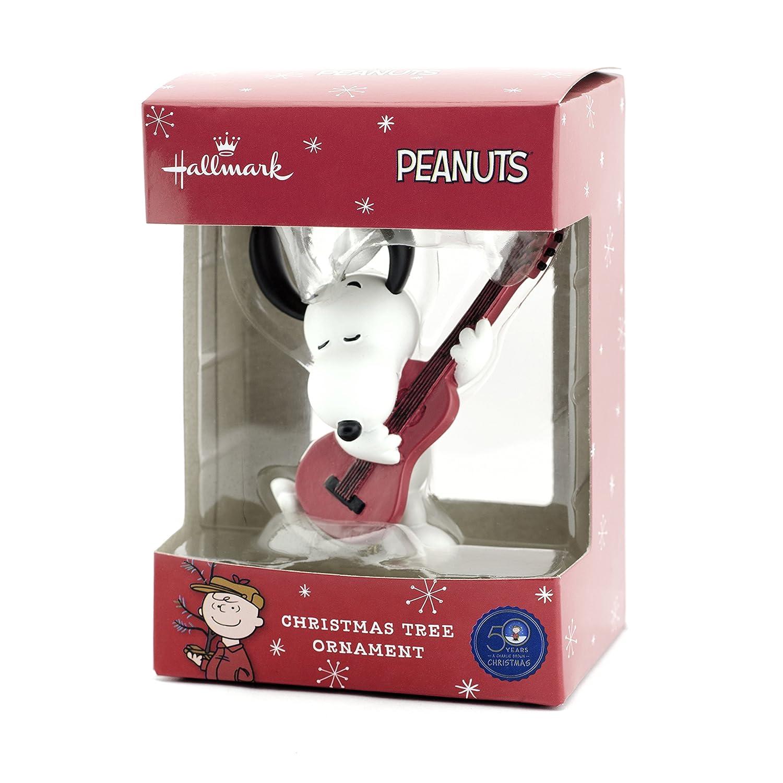 Amazon: Hallmark Peanuts Snoopy With Guitar Christmas Ornament: Home &  Kitchen