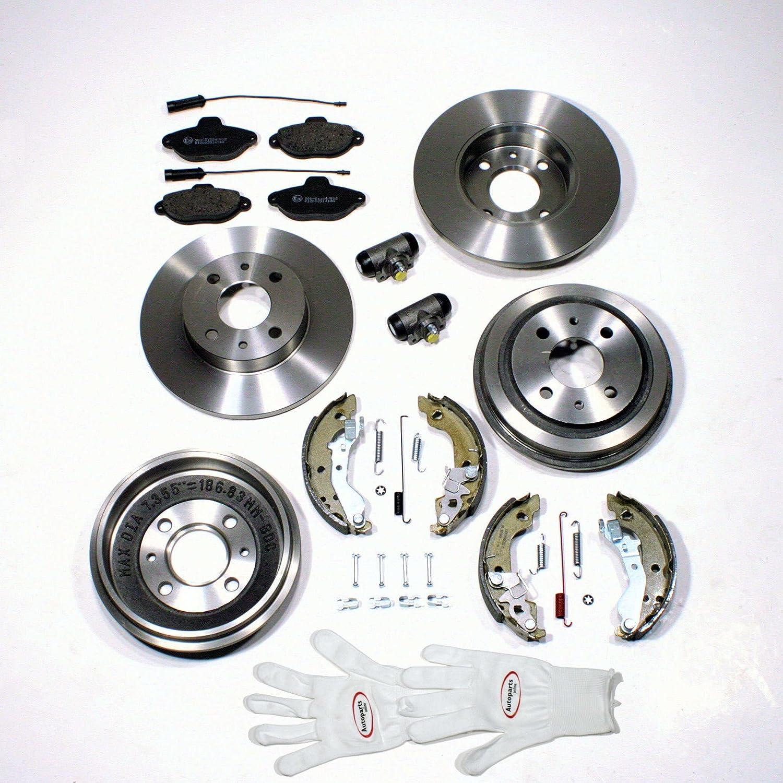 Autoparts Online Set 60003805 Bremstrommel Bremsscheiben Bremsen Set Vorne Hinten Auto