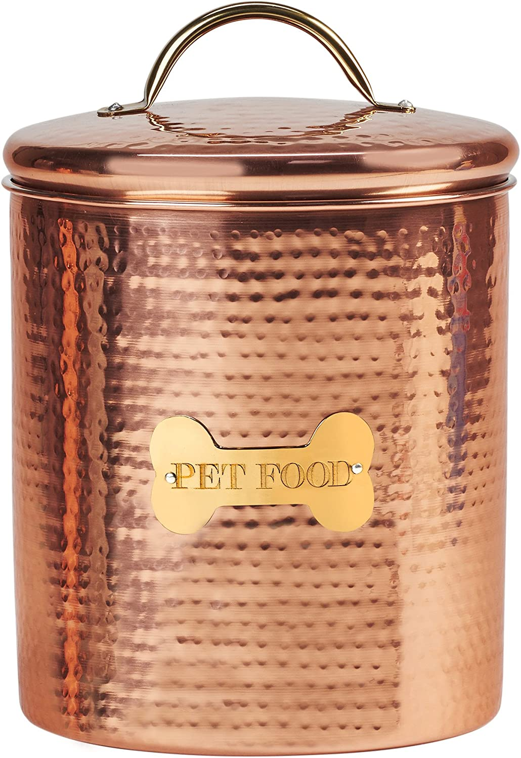 Amici Pet King Charles XL Amici Home Copper Dog Food Canister-104, X-Large/104 oz
