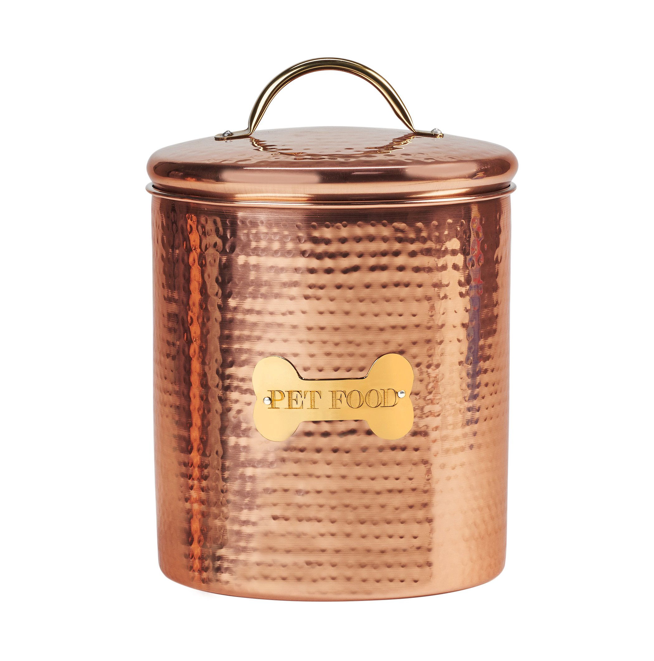 Amici Pet A5AN835R King Charles XL Amici Home Dog Food Canister-104, X-Large/104 oz, Copper
