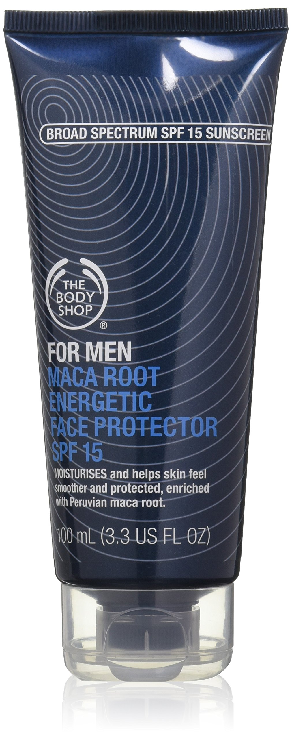 The Body Shop Energetic Face Protector for Men, Maca Root, 3.3 Fluid Ounce