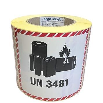 Versandetiketten Un 3480 Ohne Telnr Lithium Batterien