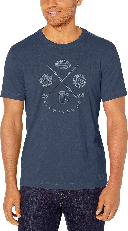 Life is Good Mens Mens Crusher T-Shirt