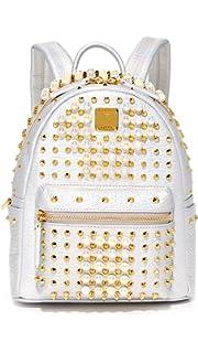 MCM Women s Stark Pearl Stud Backpack 6f7c070378d26