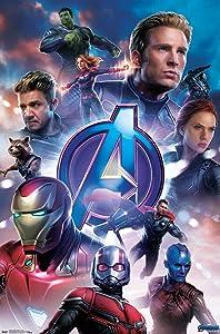 "Trends International Marvel Cinematic Universe - Avengers - Endgame - Group Wall Poster, 22.375"" x 34"", Unframed Version"