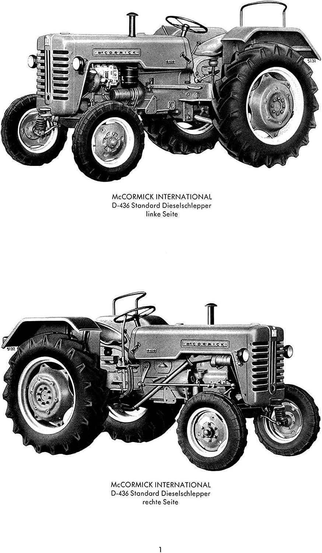 MC Cormick Betriebsanleitung Bedienungsanleitung Traktor Standard D-436